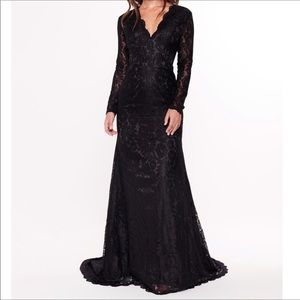 Dresses & Skirts - Elegant A&N Luxe Black Lace Gown in XL